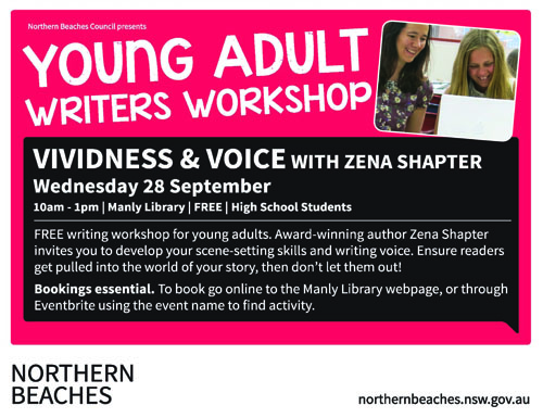 2016 Manly Arts Festival Zena Shapter Writers Workshop