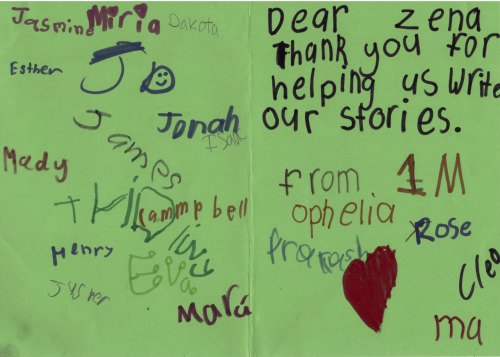Thank YOU kids – it was a pleasure teaching you how to write stories!!